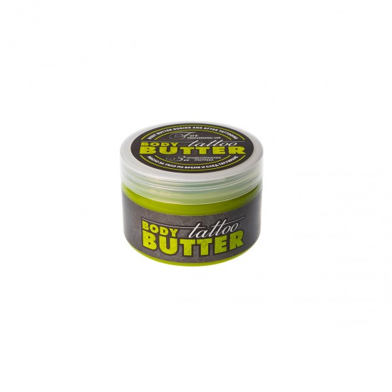 AVIA Green Body Butter during and after tattooing