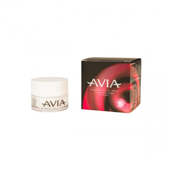 AVIA Nourishing Night Face Cream with Brown Fullers Earth, Bio Rose Water, Vegetable Oils, Allantoin, Vitamin A, E & D-Panthenol