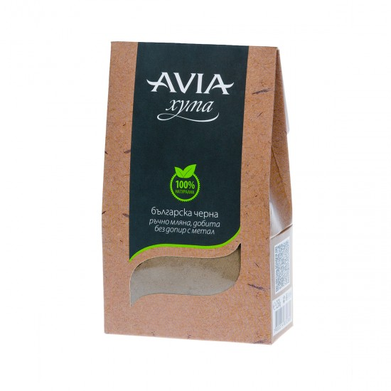 AVIA Black 100% Natural Fuller's Earth hand-milled without contact with metal