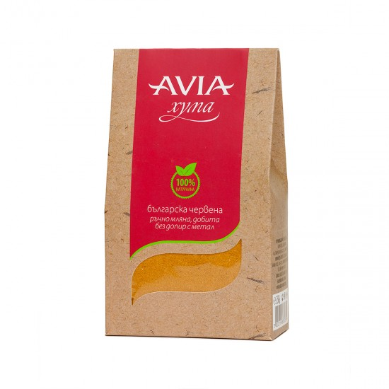AVIA Red 100% Natural Fuller's Earth hand-milled without contact with metal