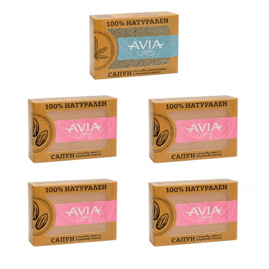 BOX 5x AVIA 100% Natural soaps Mix & Match